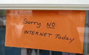 Sorry no Internet Today