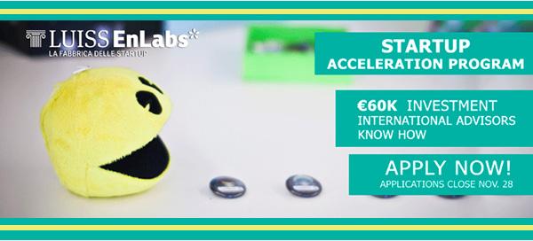 Luiss EnLabs Selection Day 2014 60k euro per la tua startup
