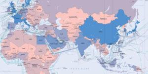 Mappa dei cavi sottomarini 2014