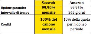 Seeweb VS Amazon su SLA