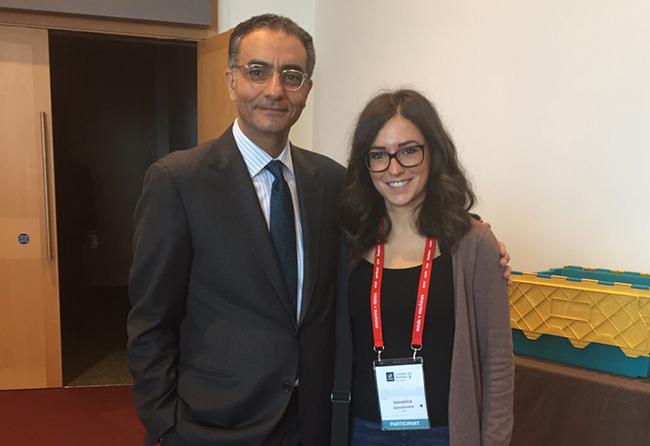 Veronica Giovannone con Fadi Chehadè, CEO ICANN