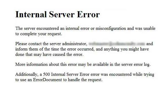 Errore 500 e WordPress come eliminarlo con Seeweb