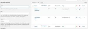 Screenshot WordPress
