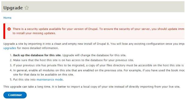 Come effettuare l'upgrade da Drupal 7 a Drupal 8