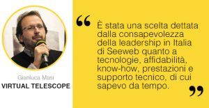 Intervista a The Virtual Telescope Project testimonial Seeweb
