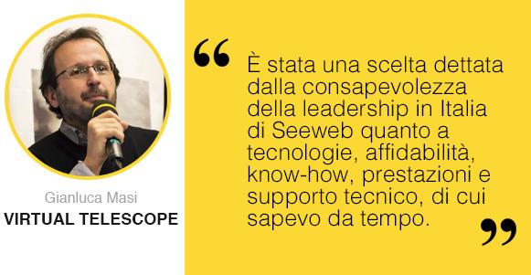 Intervista a The Virtual Telescope Project testimonial Seeweb