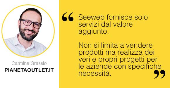 Intervista Seeweb a Camine Grassio di PianetaOutlet.it
