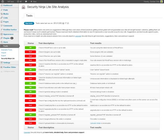 Security Ninja plugin per la sicurezza WordPress