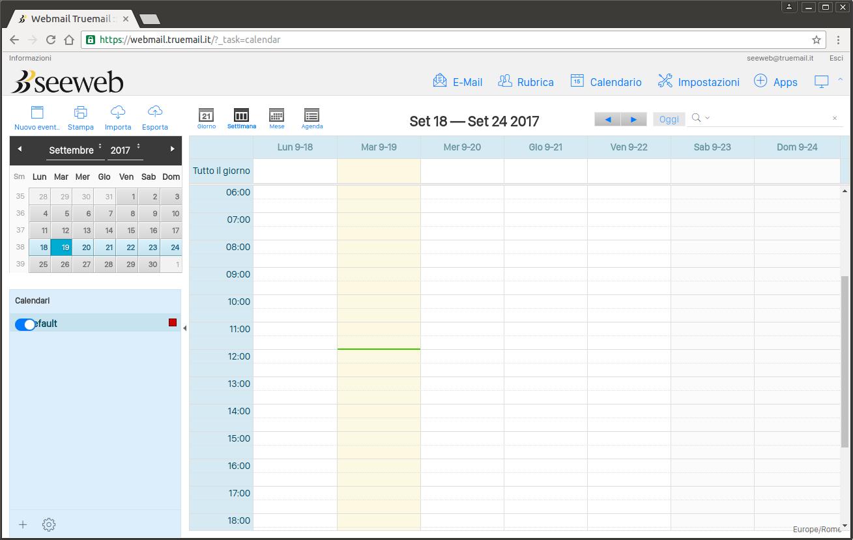 Speciale TrueMail - Calendario Roundcube per posta elettronica
