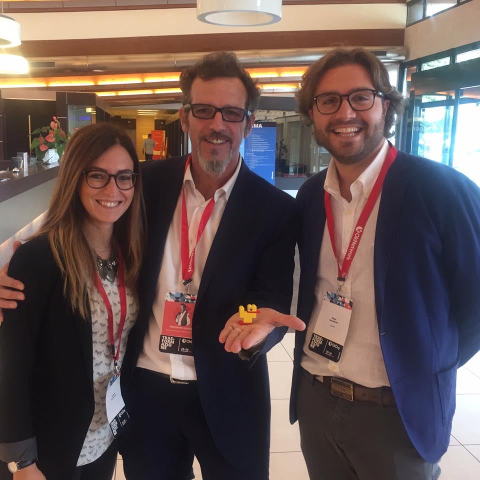 OkDay 17: Veronica Giovannone e Diego Alessandri con Germano Lanzoni