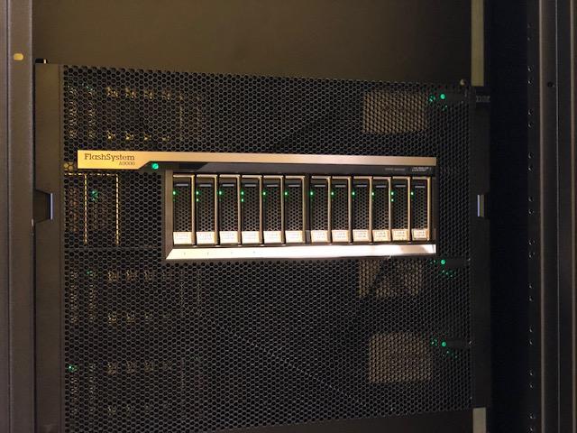 dettaglio IBM Flash System A9000 nel datacenter seeweb di Roma