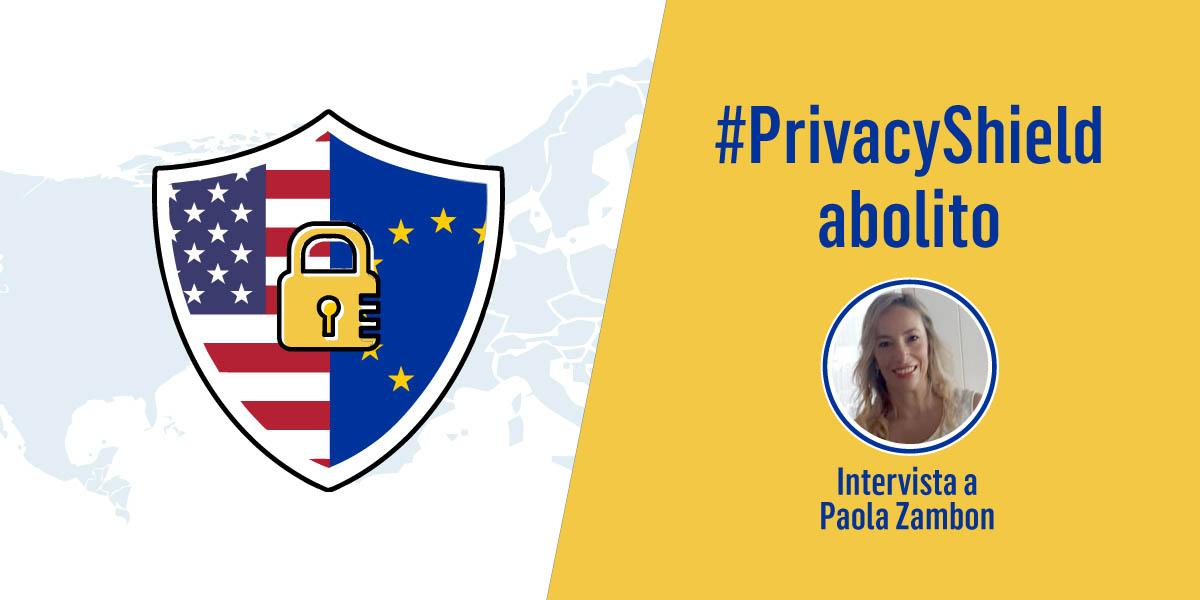 Paola Zambon sul privacy shield